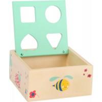 odprta lesena škatla oblike