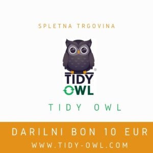 darilni bon Tidy Owl 10 eur