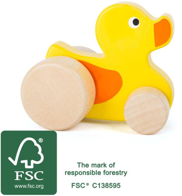 FSC oznaka lesena racka
