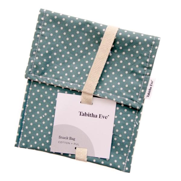 vrecka za prigrizke Tabitha Eve zelena s pikami
